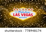classic retro welcome to las... | Shutterstock .eps vector #778948174
