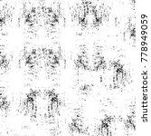 grunge black and white pattern. ... | Shutterstock . vector #778949059