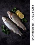 organic raw fresh trout  salmon ... | Shutterstock . vector #778954255