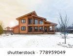 modern beautiful wooden house   ... | Shutterstock . vector #778959049
