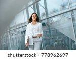 beautiful woman going to work... | Shutterstock . vector #778962697