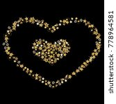doodle golden stars in the... | Shutterstock .eps vector #778964581