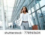 business woman with phone near... | Shutterstock . vector #778965634