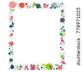 festive confetti frame or... | Shutterstock .eps vector #778971025