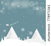 merry christmas and happy new... | Shutterstock .eps vector #778971361