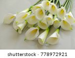 bunch of arum lily on white... | Shutterstock . vector #778972921