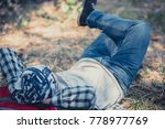 close up of young man relaxing... | Shutterstock . vector #778977769