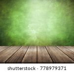 wood table top with green... | Shutterstock . vector #778979371