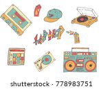 set of hand drawn vector icon...   Shutterstock .eps vector #778983751