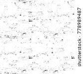 grunge black and white pattern. ... | Shutterstock . vector #778989487