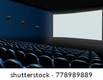 cinema auditorium with blue... | Shutterstock .eps vector #778989889