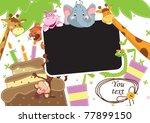 baby party. children frame for... | Shutterstock .eps vector #77899150