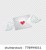 vector illustration of envelope ... | Shutterstock .eps vector #778994011