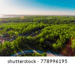 panorama aerial view shot on... | Shutterstock . vector #778996195
