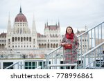 close up of turist girl stands... | Shutterstock . vector #778996861