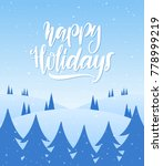 vector illustration  snowy... | Shutterstock .eps vector #778999219
