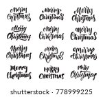 vector illustration  big set of ... | Shutterstock .eps vector #778999225