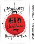 christmas greeting card with... | Shutterstock .eps vector #779009839