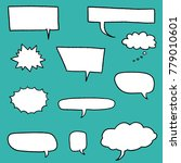 speech bubble vectors   comic... | Shutterstock .eps vector #779010601