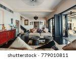 luxury villa living room... | Shutterstock . vector #779010811