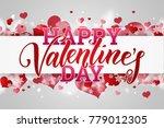 happy valentine's day festive... | Shutterstock . vector #779012305