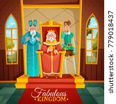 fabulous kingdom colorful... | Shutterstock .eps vector #779018437