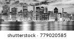 black and white new york city... | Shutterstock . vector #779020585