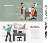 meeting deadlines 2 flat... | Shutterstock .eps vector #779021941