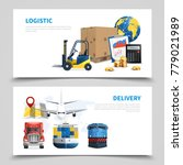 logistic banner set | Shutterstock .eps vector #779021989
