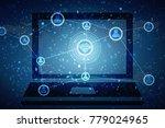 2d illustration technology... | Shutterstock . vector #779024965