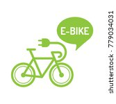 e bike. flat vector... | Shutterstock .eps vector #779034031