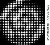 abstract grunge grid polka dot...   Shutterstock .eps vector #779037637