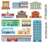 building facade of cityscape... | Shutterstock .eps vector #779038939
