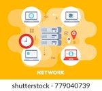 social network concept on... | Shutterstock .eps vector #779040739