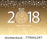 happy new year 2018 greeting...   Shutterstock .eps vector #779041297