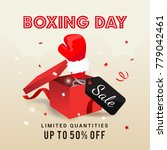 boxing day sale vector... | Shutterstock .eps vector #779042461