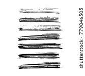 brush stroke set. texture. | Shutterstock .eps vector #779046505