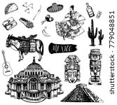 hand drawn sketch style set of...   Shutterstock .eps vector #779048851