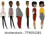 different black characters | Shutterstock .eps vector #779051281