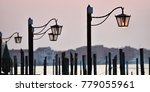 venice at sunrise  lampposts at ... | Shutterstock . vector #779055961