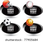 football helmet  baseball ... | Shutterstock .eps vector #77905684