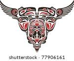 haida style tattoo design... | Shutterstock .eps vector #77906161