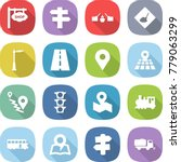 flat vector icon set   shop... | Shutterstock .eps vector #779063299