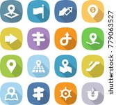 flat vector icon set   pointer... | Shutterstock .eps vector #779063527