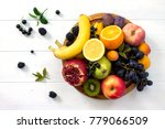 the concept of a healthy diet....   Shutterstock . vector #779066509