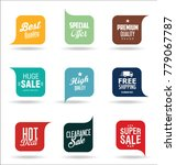abstract modern vector label... | Shutterstock .eps vector #779067787