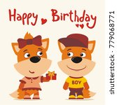 happy birthday  greeting card ... | Shutterstock .eps vector #779068771