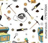 treasure hunter pattern | Shutterstock .eps vector #779073064