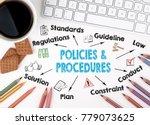 policies and procedures ...   Shutterstock . vector #779073625
