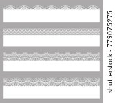 lace borders. set of white... | Shutterstock . vector #779075275